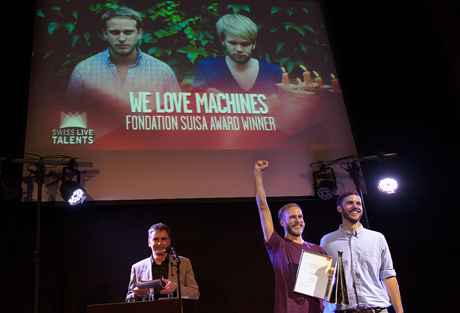 Swiss Live Talents 2013 We Love Machines Preisuebergabe