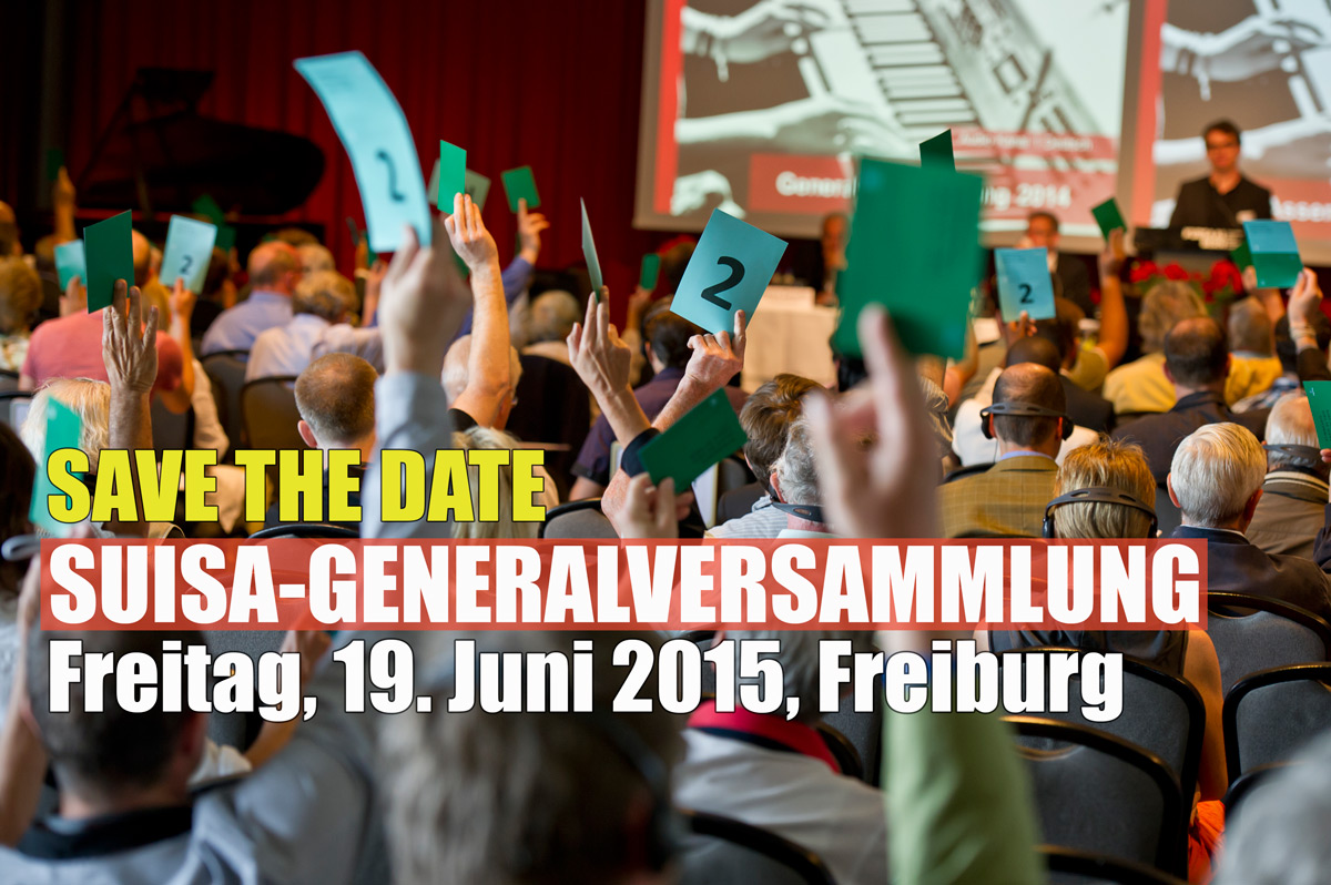 Generalversammlung 2015 Save the date