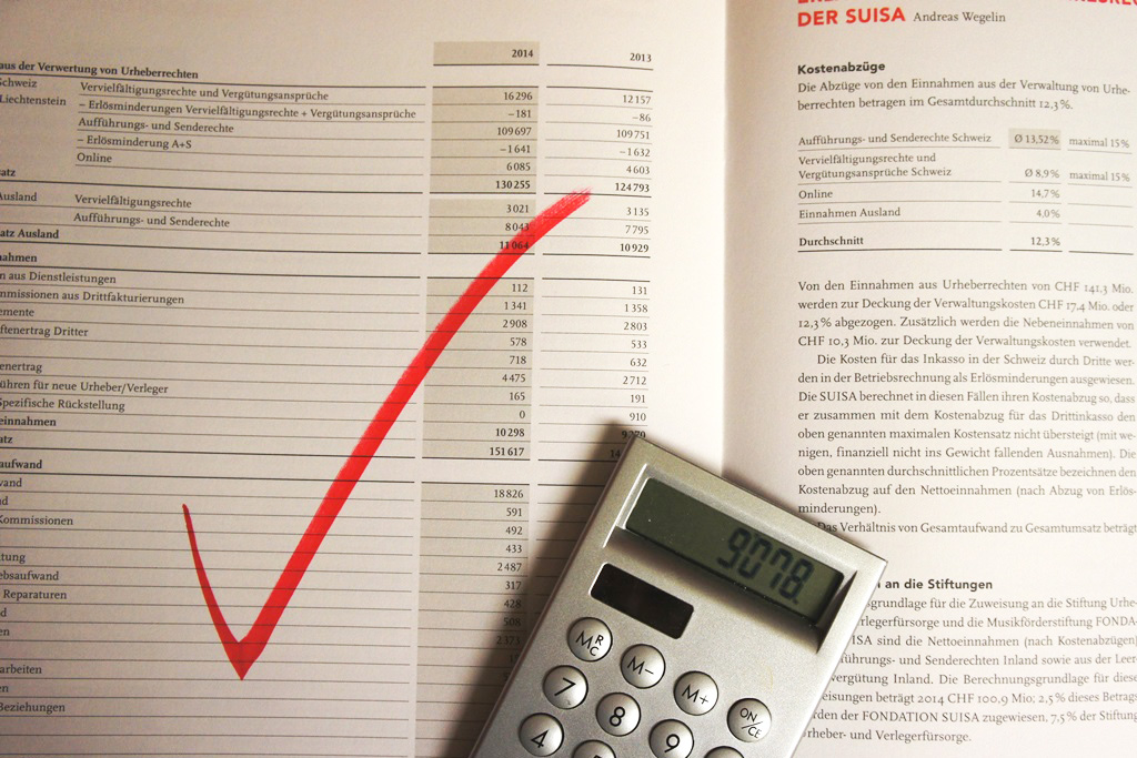 SUISA is working cost-consciously