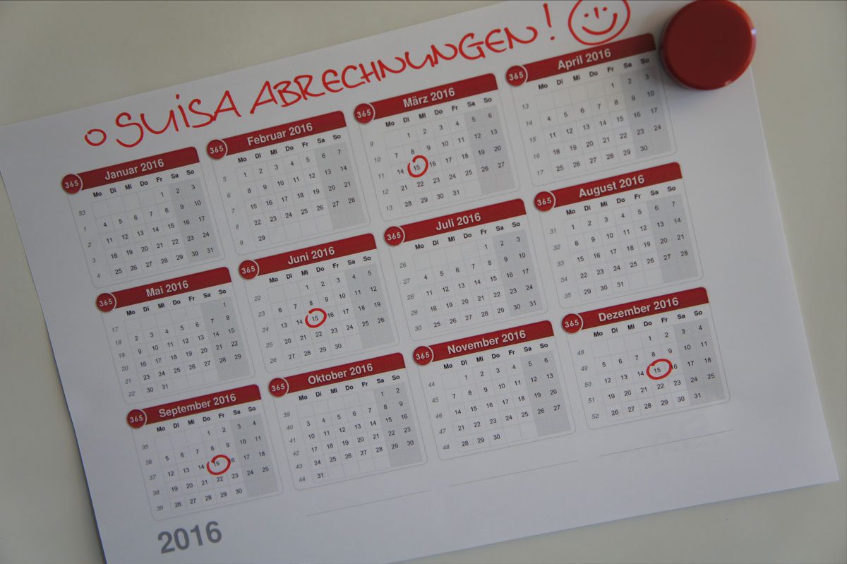 Distribution calendar 2016: Members get their payments more quickly